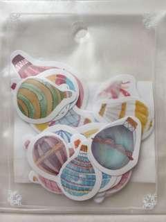 Hot air balloon flake stickers