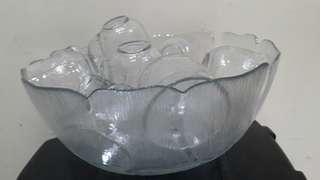 Arcoroc France punch bowl set