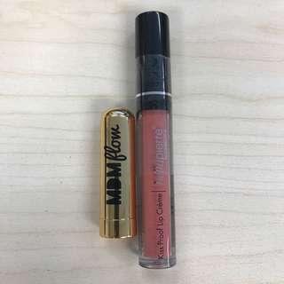Lipstick + Lipgloss Set 唇膏 唇彩 (MDM Flow + Bellapierre)