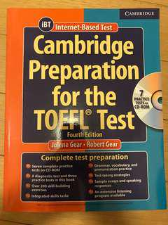 Cambridge Preparation for the TOEFL test, with 8 CD-Roms, Brand new