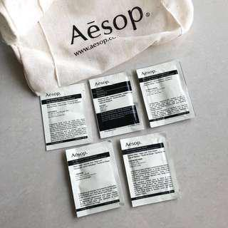 Aēsop Pouch and Sample set