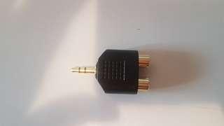 🚚 RCA母 to 3.5mm公 鍍金 轉接頭