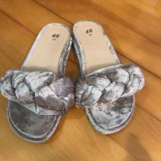H&M Sandal Satin 閃令令拖鞋