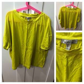 (Used) Zara neon color tee 上衣