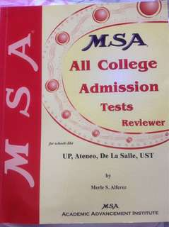 MSA College Admission Tests Reviewer