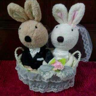 (BNWT) Wedding Bridal Dolls (Rabbit) Wedding Bears
