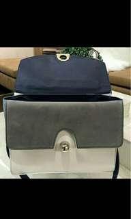 zara blue office bag tas