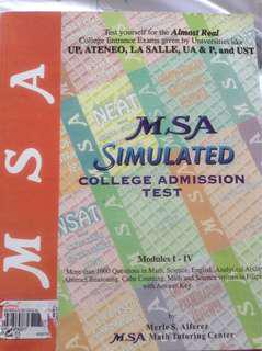 MSA Simulated College Admission Test