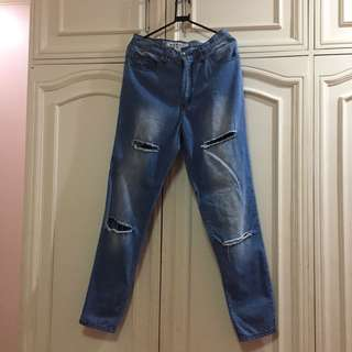 next jeans highwaisted ripped jeans