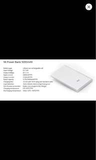Authentic Original Xiaomi Powerbank 5000mah