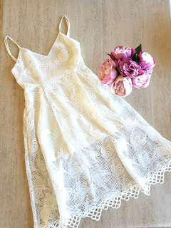 Pasduchas White Lace Dress
