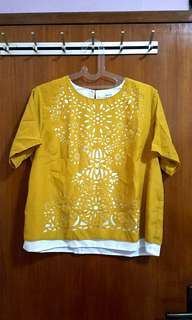Yellow top bahan adem import