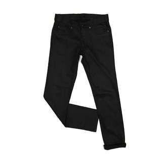 H&M Slim Fit Straight Coated Black by Black