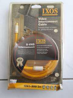 IXOS S-VIDEO INTERCONNECT CABLE