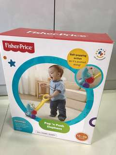 Fisher Price Pop n Push Elephant Toy