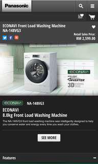 New model Panasonic Front Load Washing Machine