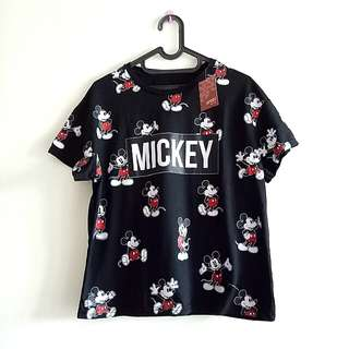 New Mickey Mouse Tee Black