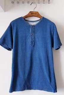 Summer 牛仔亨利領T Shirt