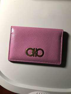 Ferragamo card holder real new pink 卡包