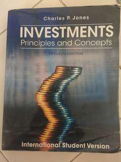INVESTMENTS PRINCIPLES AND CONCEPTS 12th CHARLES P JONES
