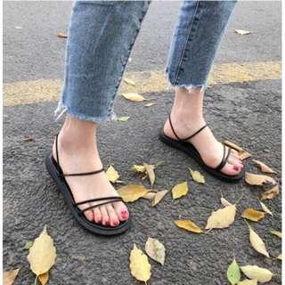 羅馬風平底涼鞋