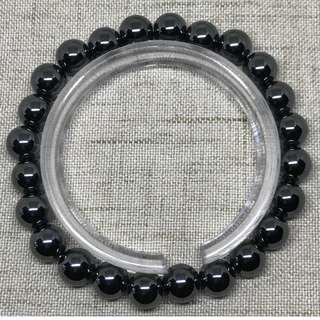 🚚 Hematite Bracelet 8mm  24 Beads 32.27g