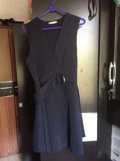 zara dress navy