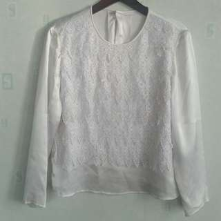 Top white Silk
