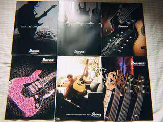 Ibanez,  Esp,  laney,  vox,  guitar bass amp catalogue 絕版一堆不散放