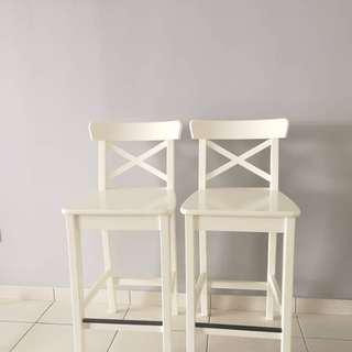 Ikea white ignolf bar stool
