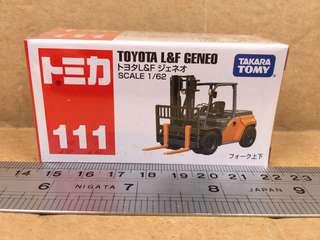 Tomica Toyota L&F Geneo No.111