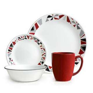 Corelle Mosaic Red set of 16pcs