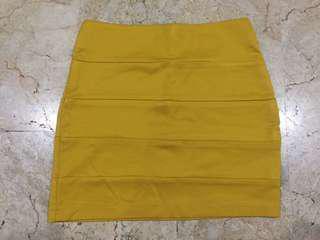 Mustard Yellow Span Skirt (Rok Span)