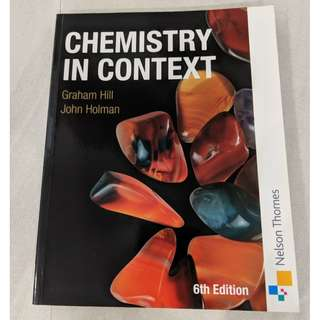 Chemistry In Context. Sixth Edition.