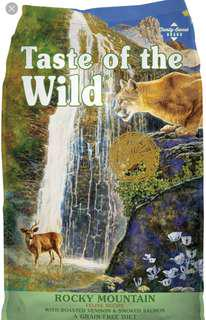 Cat food-taste of the wild