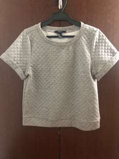 Authentic Mango MNG Gray Top