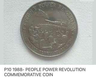P10 1968 PEOPLE POWER REVOLUTION COMMEMORATIVE COIN