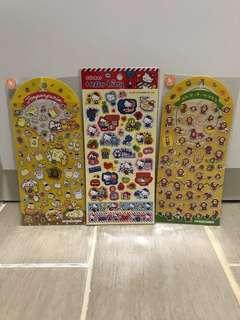 售:Sanrio 貼紙三張