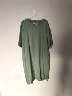 topshop green tshirt dress