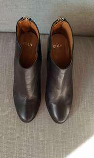 Eden Italian Black Heeled Boots