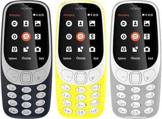 Brand New Nokia 3310 3G - Black Color