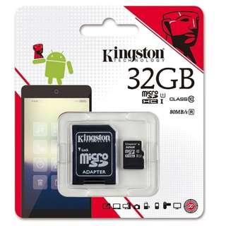 Kingston Micro SD Class 10 UHS-1 32GB 80MB/s