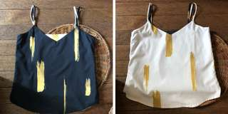Plains and Prints reversible top