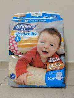 Drypers Wee Wee Dry (L SIZE)