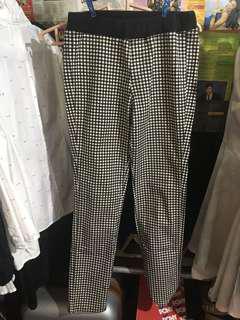 Uniqlo Plaid Black and White Pants