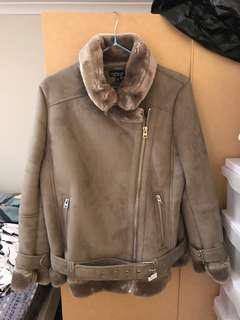 Topshop Suede Coat