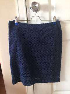 Forever 21 Pencil Skirt Navy Blue