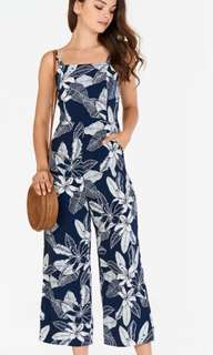 BNWT TCL Iliana Floral Printed Jumpsuit in Navy