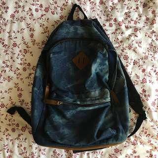 acid wash denim unqiue blue backpack bag