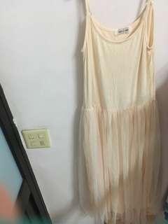 🚚 杏色紗裙